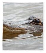 Big Eyes Baby Gator Fleece Blanket