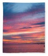 Big Florida Sunset Fleece Blanket