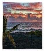 Big Island Sunrise Fleece Blanket