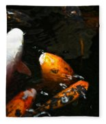 Big Lip Koi Spit Fleece Blanket