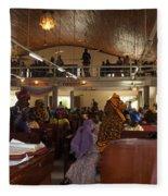 Big Nigerian Church In Lagos Fleece Blanket