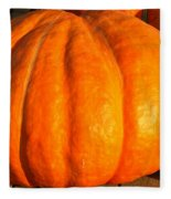 Big Orange Pumpkin Fleece Blanket