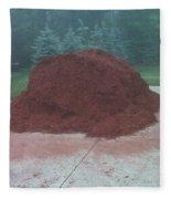Big Pile Of Mulch Time Fleece Blanket