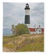 Big Sable Lighthouse Fleece Blanket