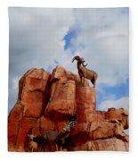 Big Thunder Bighorns Fleece Blanket
