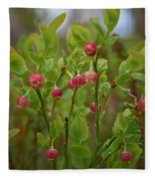 Bilberry Flowers Fleece Blanket