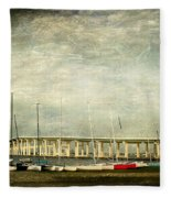 Biloxi Bay Bridge Fleece Blanket