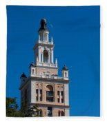 Biltmore Hotel Tower And Moon Fleece Blanket