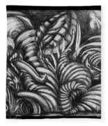 Biomorphic Fleece Blanket