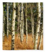 Birch Tree Abstract Fleece Blanket