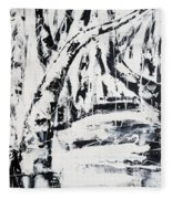 Birch Trees By The Brook Fleece Blanket