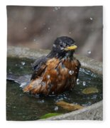 Bird Bath Fun Time Fleece Blanket