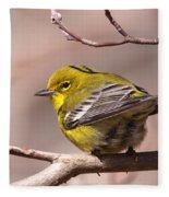 Bird - Pine Warbler - Detail Fleece Blanket