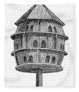 Birdhouse, 19th Century Fleece Blanket