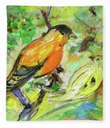 Birds 01 Fleece Blanket