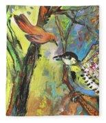Birds 03 Fleece Blanket