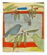 Birds And Berries Fleece Blanket