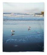 Birds At Dusk Vanilla Pop Fleece Blanket