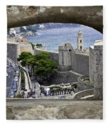 Bird's Eye View Of Dubrovnik Fleece Blanket