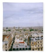 Panoramic Paris Fleece Blanket