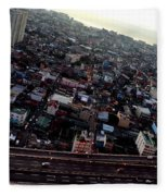 Birds Eye View Of The Pasay City Fleece Blanket