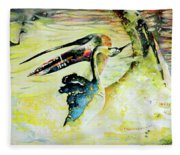 Birds Love Dance Fleece Blanket