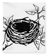 Birds Nest Fleece Blanket