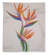 Birds Of Paradise I Fleece Blanket