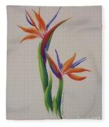 Birds Of Paradise -in Love Fleece Blanket