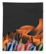Birthday Candles Fleece Blanket