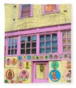 Colorful Building Bisbee Az Fleece Blanket