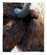 Bison Bison Up Close Fleece Blanket
