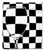 Black And White Fleece Blanket