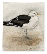 Black Backed Gull  Fleece Blanket