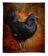 Black Bantam Chicken Fleece Blanket