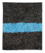 Black Blue Lawn Fleece Blanket