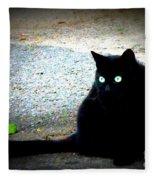 Black Cat Beauty Fleece Blanket