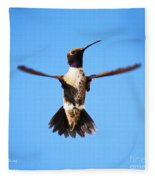 Black-chinned Hummingbird Flying Fleece Blanket