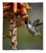 Black Chinned Hummingbird  Fleece Blanket