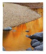 Black River Reflections At Johnsons Shut Ins State Park I Fleece Blanket