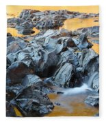 Black River Reflections At Johnsons Shut Ins State Park Vi Fleece Blanket