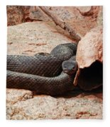 Black Snake Fleece Blanket