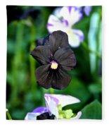Black Violet Fleece Blanket
