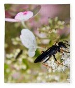 Black Wasp 1 Fleece Blanket