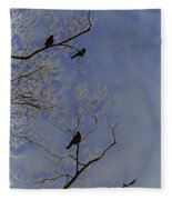 Blackbirds Fleece Blanket