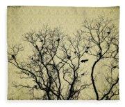 Blackbirds Roost Fleece Blanket