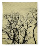 Blackbirds Roost Fleece Blanket