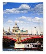 Blackfriars Bridge And St. Paul's Cathedral In London Fleece Blanket