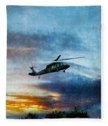 Blackhawk Helicopter Fleece Blanket
