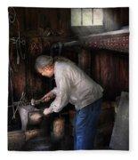 Blacksmith - Tinkering With Metal  Fleece Blanket